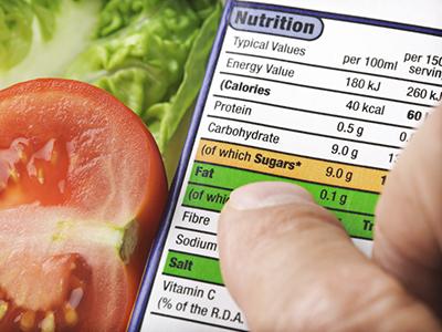 Informazioni in etichetta del cibo