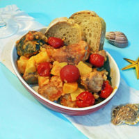 Spezzatino di misto pesce con patate [Ricetta]