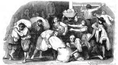 Francesco Gonin, illustrazione assalto al forno Promessi Sposi Manzoni