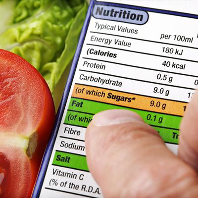 Informazioni nutrizionali alimenti etichetta