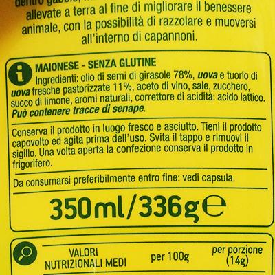 Ingredienti e allergeni in etichetta